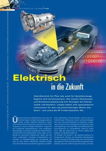 Elektrisch in die Zukunft - HANSER automotive