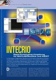 Rapid Prototyping-Umgebung für MATLAB/Simulink und ASCET