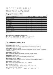 pressedienst - Hanser Literaturverlage