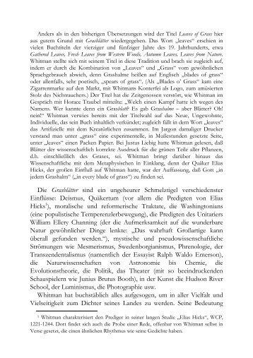 Grasblätter - Hanser Literaturverlage