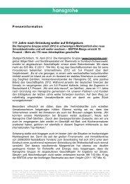 finden Sie die komplette Presseinformation. (PDF, 0,6 ... - Hansgrohe