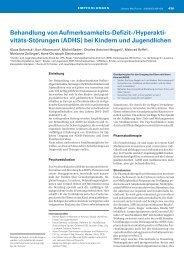 Behandlung von ADHS bei Kindern und Jugendlichen