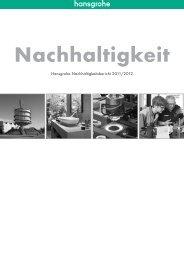 Datei Nachhaltigkeit 2011/2012 nach GRI herunterladen - Hansgrohe