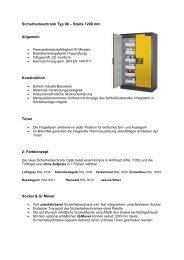 Sicherheitsschrank Typ 90 – Breite 1200 mm - bi lagertechnik
