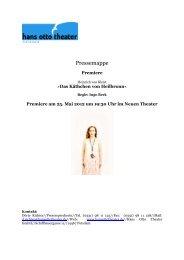 Pressemappe - Hans Otto Theater
