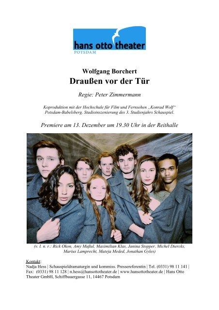 Download PDF ↓ Datei: 479 KB - Hans Otto Theater