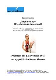 "Pressemappe ""High Society"" (Die oberen ... - Hans Otto Theater"