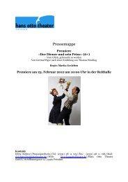 Pressemappe Diener und Prinz - Hans Otto Theater