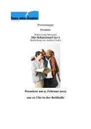 Pressemappe Die Schatzinsel (9+) Premiere am ... - Hans Otto Theater
