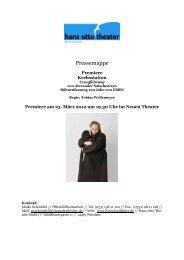Krebsstation Pressemappe - Hans Otto Theater