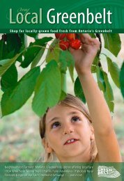 Shop for locally-grown food fresh from Ontario's Greenbelt