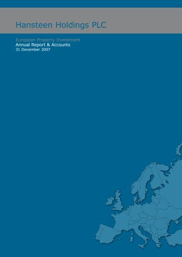 Annual Report and Accounts for the year ended 31 December 2007