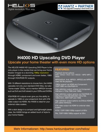 H4000 HD Upscaling DVD Player For inquiries
