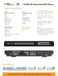 H4000 HD Upscaling DVD Player For inquiries - Page 2
