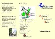 Flyer Nachsorge - Blaues Kreuz