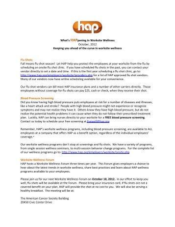 What's HAPpening - Hap.org
