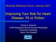 Improving Your Risk for Heart Disease: Fit or Fiction - HAP