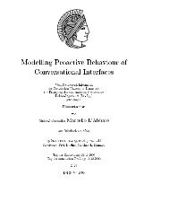 Modelling Proactive Behaviour of Conversational Interfaces - tuprints