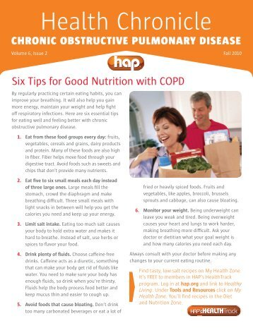 Chronic Obstructive Pulmonary Disease - Hap.org