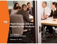 Heart Disease and the Impact on the Worksite. - Hap.org