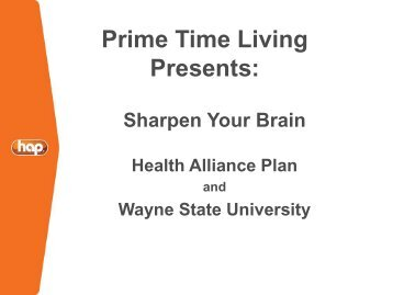 Prime Time Living Presents: - HAP