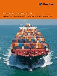 Konzernzwischenbericht i 9M · 2012 hapag-lloyd holding ag · 1 ...