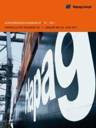 Konzernzwischenbericht i h1 · 2011 hapag-lloyd holding ag · 1 ...