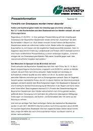 Presseinformation - Bayerische Staatsforsten