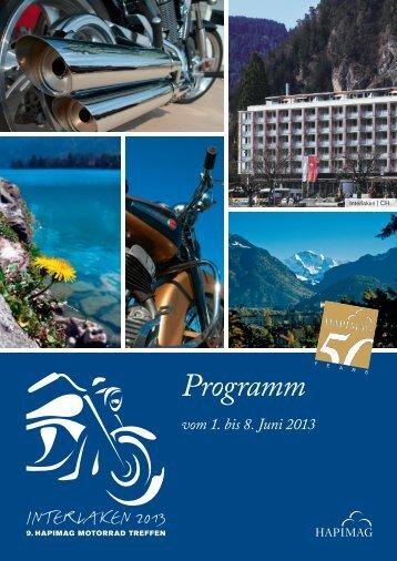 Programm vom 1. bis 8. Juni 2013 - Hapimag