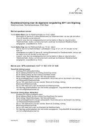Routebeschrijving naar de algemene vergadering 2011 van Hapimag