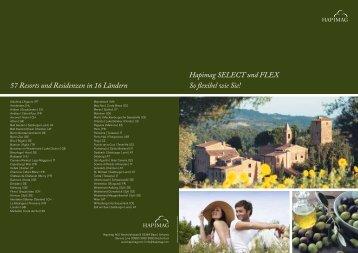 Hapimag SELECT und FLEX So flexibel wie Sie! 57 Resorts und ...