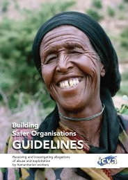 Building Safer Organisations Guidelines - HAP International