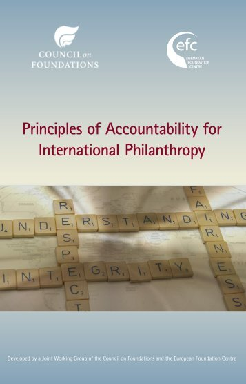 Principles of Accountability for International Philanthropy
