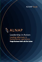 Leadership in Action: Leading - alnap
