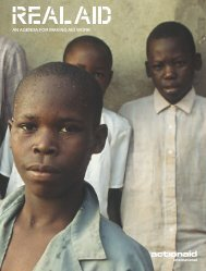 AN AGENDA FOR MAKING AID WORK - ActionAid International