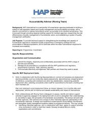 Roving Accountability Advisor Job description - HAP International