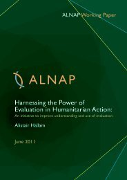 Harnessing the Power of Evaluation in Humanitarian Action: - alnap