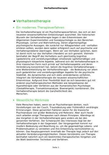 Verhaltenstherapie - Happyologin