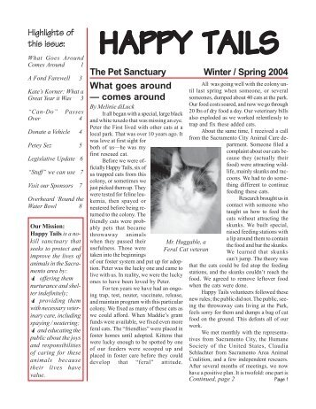Winter / Spring 2004 - Happy Tails - Pet Sanctuary