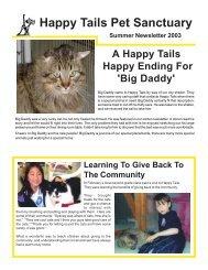 Summer, 2003 - Happy Tails - Pet Sanctuary