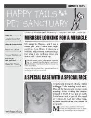 Summer, 2005 - Happy Tails - Pet Sanctuary