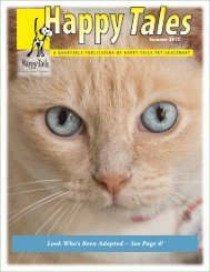 Look Who's Been Adopted – See Page 4! - Happy Tails - Pet ...