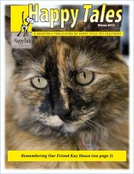 Remembering Our Friend Kay House (see page 3) - Happy Tails ...