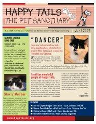 June, 2007 - Happy Tails - Pet Sanctuary