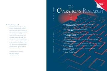 Front Matter (PDF) - Management Science