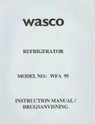 Wasco skabsfryser WFA95 - Harald Nyborg