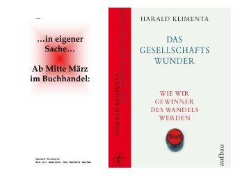 Wie wir Gewinner des Wandels werden - von Harald Klimenta