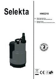 Selekta grundvandspumpe 550W - Harald Nyborg