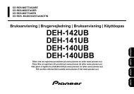 Brugsanvisning DEH-140UB - Harald Nyborg