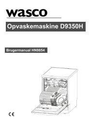 Wasco opvaskemaskine D9350H - Harald Nyborg